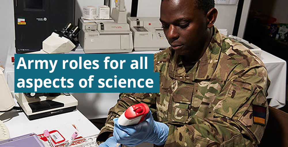 Army roles for all aspects of science